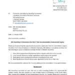 Submission into government inquiry for short term accommodation in WA